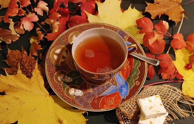 Tasse de thé chaude