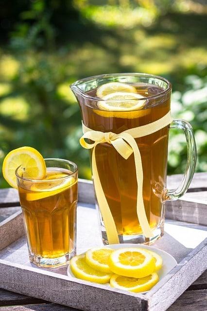 comment préparer un thé glacé citron- gingembre