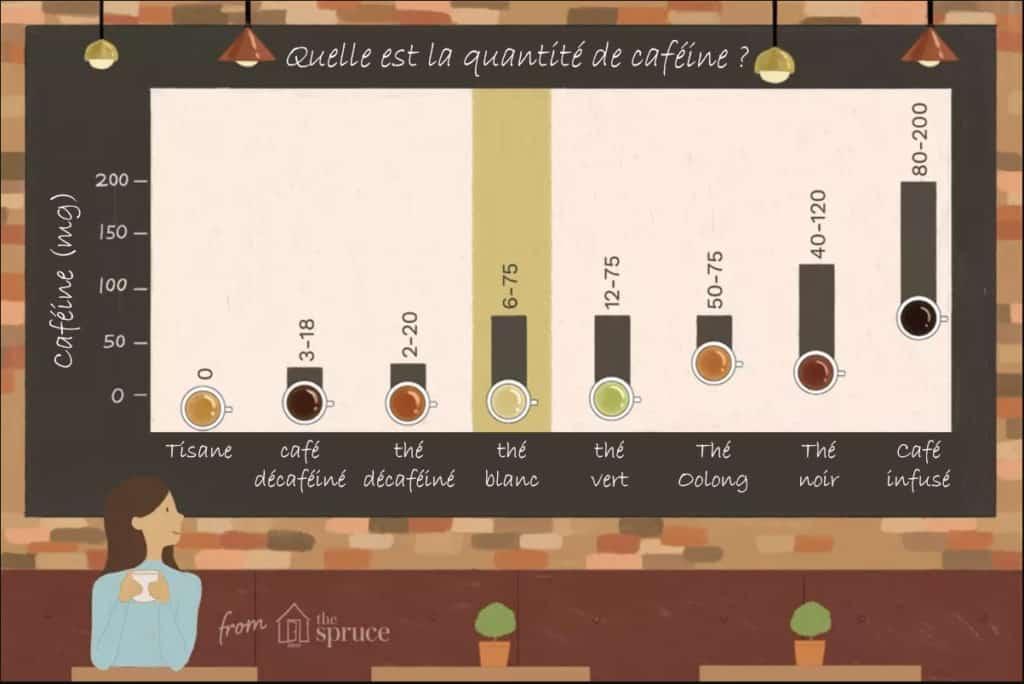 Quantité caféine - Thé Blanc