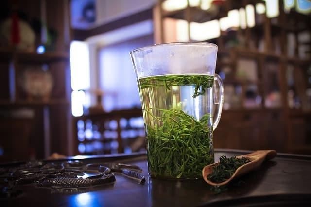 thé vert au rhum