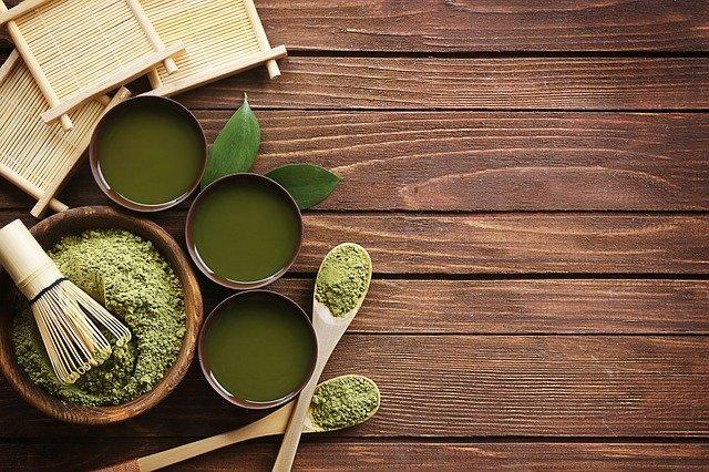 effet de thé vert matcha