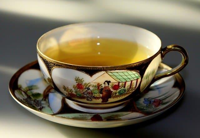 préparation de thé vert