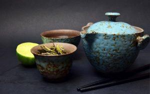 préparation de thé vert chinois