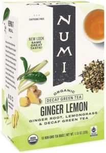 Numi Organic Ginger Lemon Decaf Green Tea