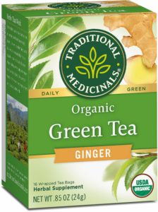 Traditionnal Médicinals Green tea Ginger